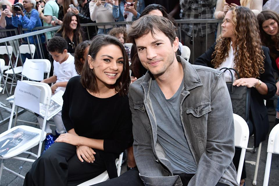 Mila Kunis and Ashton Kutcher in Hollywood, May 2018. (Getty Images for Disney)