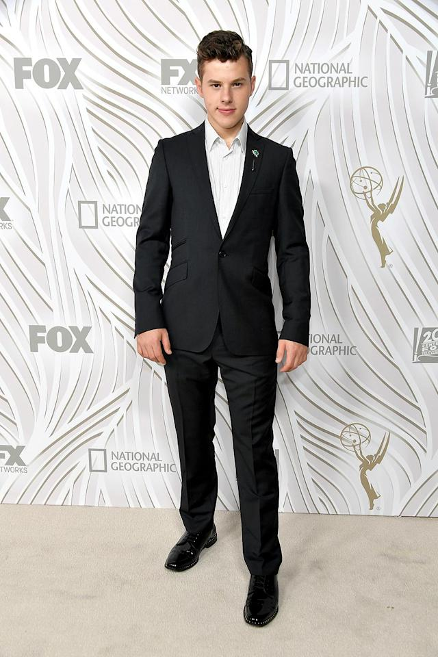 <p>Nolan Gould at the Fox Broadcasting Co., Twentieth Century Fox Television, FX, and <em>National Geographic</em> bash at Vibiana. (Photo: Neilson Barnard/Getty Images) </p>