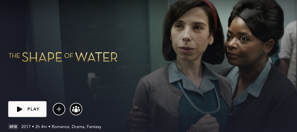 The Shape Of Water on Disney+