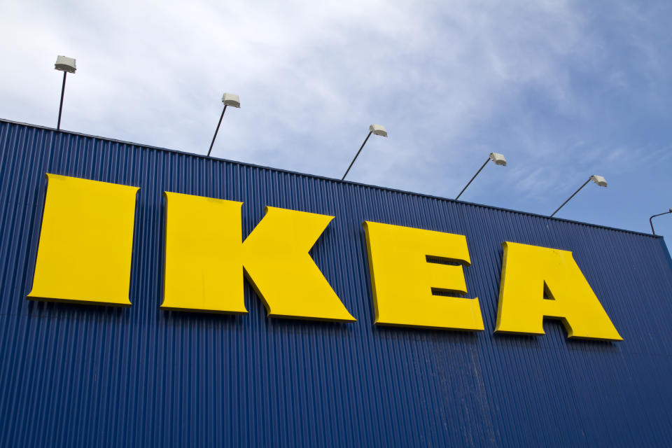 """""""Toulon, France - March 3, 2012: IKEA sign outside of the IKEA Toulon store.  IKEA is a Swedish company and is the worlds largest  appliances And decor retailer."""""""