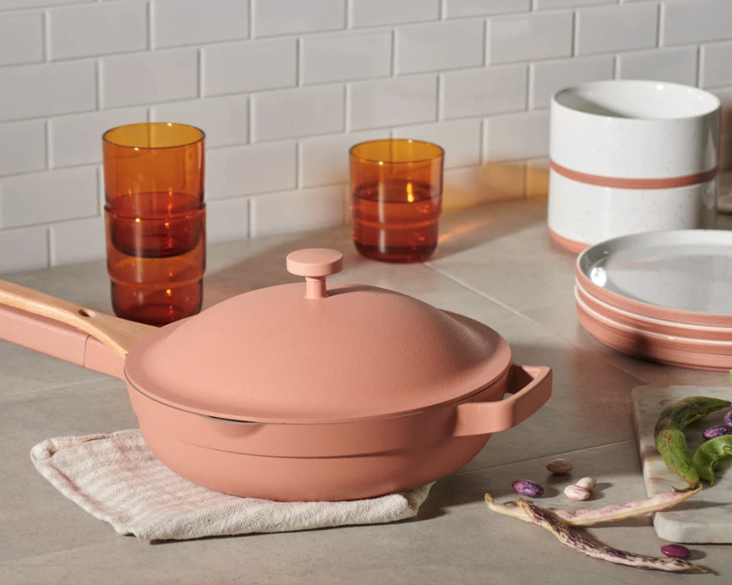 For the first time in months, you can shop all six colours of the sold-out Always Pan. Image via Our Place.