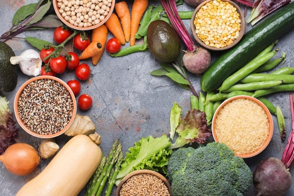 """Even though you might love <a href=""""https://www.heart.org/en/healthy-living/healthy-eating/eat-smart/nutrition-basics/aha-diet-and-lifestyle-recommendations"""" rel=""""nofollow noopener"""" target=""""_blank"""" data-ylk=""""slk:foods that contain saturated fat"""" class=""""link rapid-noclick-resp"""">foods that contain saturated fat</a>, trans fats, and sodium, your heart doesn't. According to the American Heart Association, you should <a href=""""https://www.heart.org/en/healthy-living/healthy-eating/eat-smart/nutrition-basics/how-does-plant-forward-eating-benefit-your-health"""" rel=""""nofollow noopener"""" target=""""_blank"""" data-ylk=""""slk:focus on a plant-forward diet"""" class=""""link rapid-noclick-resp"""">focus on a plant-forward diet</a> filled with fruits and vegetables, whole grains, and nuts and legumes. And for more habits to cut out, check out these <a href=""""https://bestlifeonline.com/heart-disease-risk-factors/?utm_source=yahoo-news&utm_medium=feed&utm_campaign=yahoo-feed"""" rel=""""nofollow noopener"""" target=""""_blank"""" data-ylk=""""slk:20 Ways You Didn't Realize You're Ruining Your Heart"""" class=""""link rapid-noclick-resp"""">20 Ways You Didn't Realize You're Ruining Your Heart</a>."""