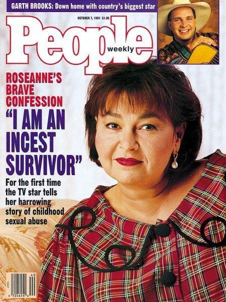 Roseanne Barr spoke about being an incest survivor in the Oct. 7, 1991, issue of <em>People</em>. (Image: People)