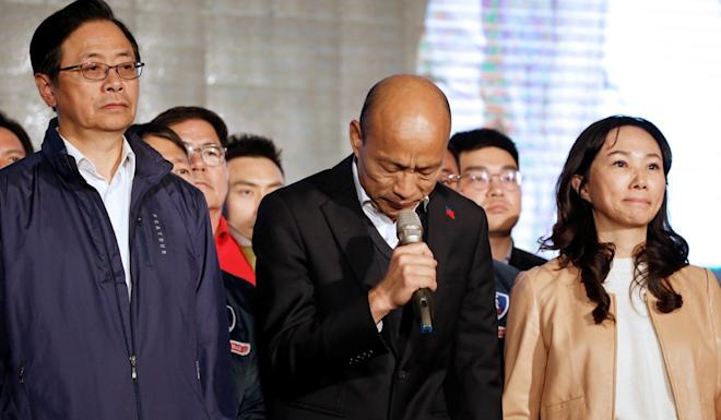 "Han Kuo-yu admitted defeat in Kaohsiung, telling supporters, ""I let down all of your expectations."" Photo: Reuters"