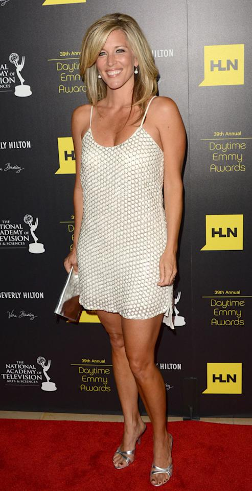 Laura Wright arrives at The 39th Annual Daytime Emmy Awards held at The Beverly Hilton Hotel on June 23, 2012 in Beverly Hills, California.
