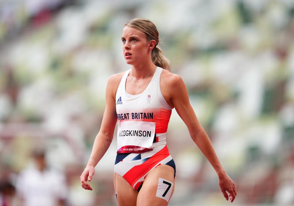 Keely Hodgkinson finished second in her heat (REUTERS)