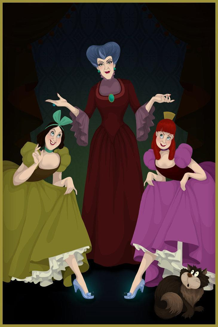 """<div class=""""caption-credit"""">Photo by: Justin Turrentine/DeviantArt.com</div><div class=""""caption-title"""">Cinderella</div>Lady Tremaine—also known as the wicked stepmother—watches proudly as her spoiled daughters, Anastasia and Drizella, show off the glass slippers that poor Cinderella didn't get to wear. <br> <br> <b>Also on Shine:</b> <br> <br> <a href=""""http://shine.yahoo.com/photos/disney-dream-portraits-unveiled-slideshow/"""" data-ylk=""""slk:New Disney &quot;Bream Portraits&quot; unveiled;outcm:mb_qualified_link;_E:mb_qualified_link;ct:story;"""" class=""""link rapid-noclick-resp yahoo-link"""">New Disney """"Bream Portraits"""" unveiled</a> <br> <a href=""""http://shine.yahoo.com/fashion/if-disney-princesses-were-real-2595417.html"""" data-ylk=""""slk:PHOTOS: If Disney princesses were real;outcm:mb_qualified_link;_E:mb_qualified_link;ct:story;"""" class=""""link rapid-noclick-resp yahoo-link"""">PHOTOS: If Disney princesses were real</a> <br> <a href=""""http://shine.yahoo.com/work-money/what-your-favorite-disney-princess-says-about-you-2542282.html"""" data-ylk=""""slk:What your favorite Disney princess says about you;outcm:mb_qualified_link;_E:mb_qualified_link;ct:story;"""" class=""""link rapid-noclick-resp yahoo-link"""">What your favorite Disney princess says about you</a> <br>"""