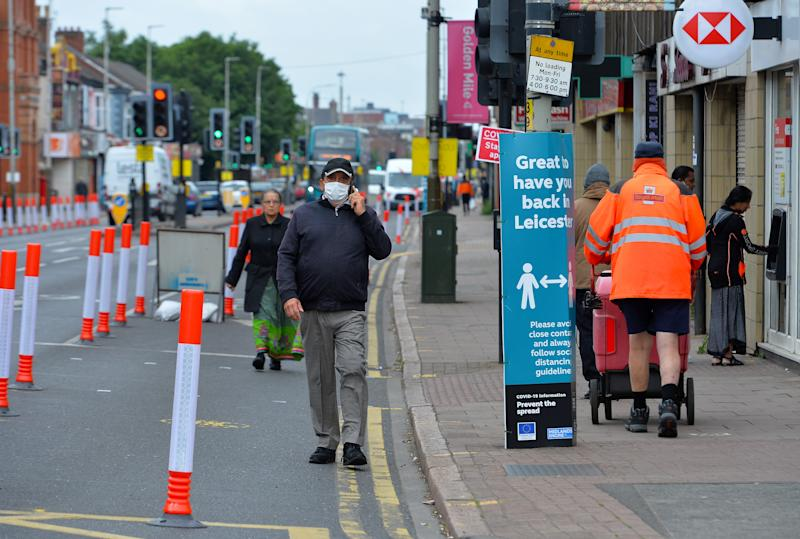Belgrave Road, Leicester�s Golden Mile as Leicester returns to Lockdown amid a spike in Coronavirus cases in the city