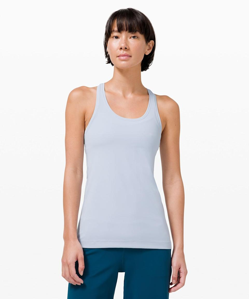 <p>This <span>Lululemon Cool Racerback II Nulu</span> ($48) is buttery soft and so easy to style. This is one of my go-to tanks.</p>