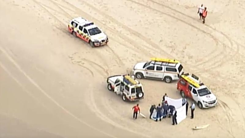 The man was surfing at Salt Beach, South Kingscliff when he was bitten by the shark on Sunday morning shortly after 10am.