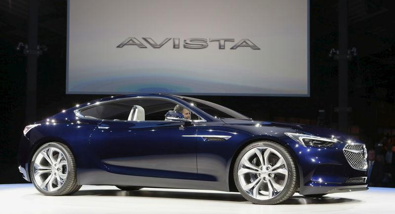 Buick introduces the Avista concept vehicle during a media event before the start of the North American International Auto Show in Detroit