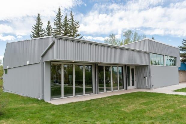 The new building at the Glenmore Sailing School, on the south shore of the Glenmore Reservoir, was completed in May. (City of Calgary - image credit)