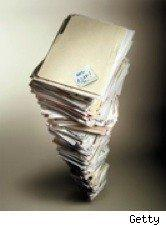 tall stack of paperwork