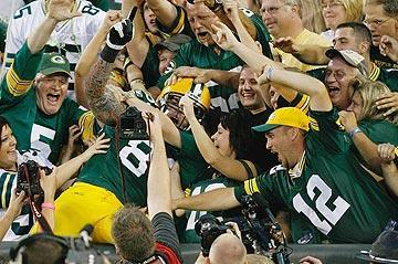 The Lambeau Leap is one of the many traditions that separates Green Bay from its counterparts