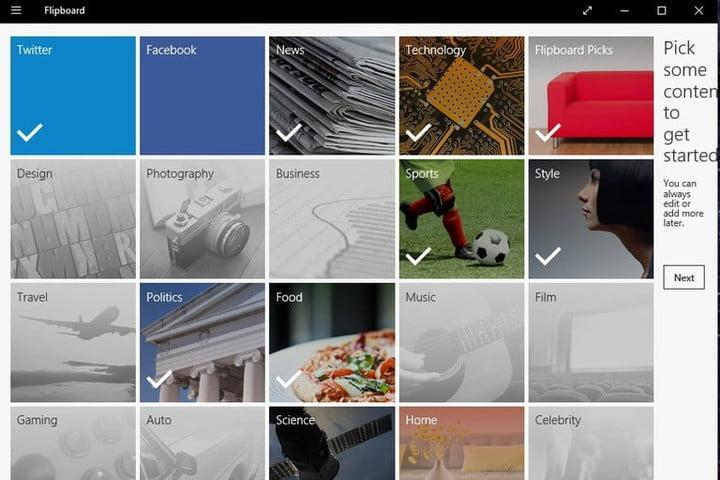 Flipboard windows 10 app screenshot