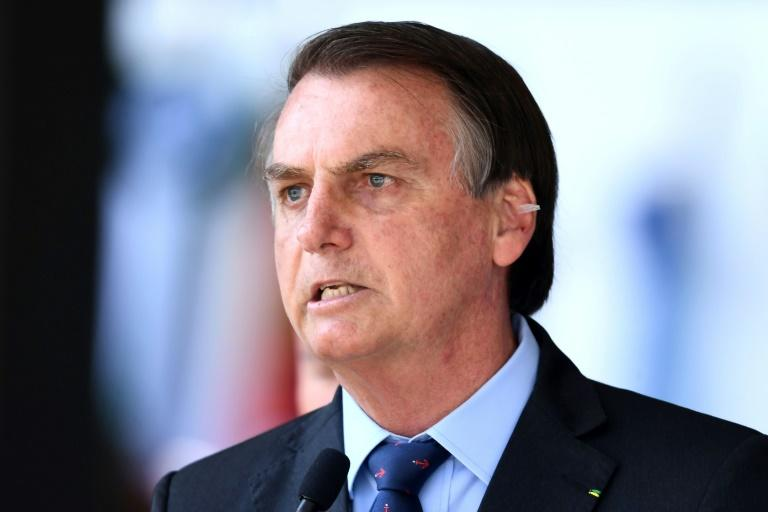 Brazilian President Jair Bolsonaro, seen at a military celebration in Brasilia on December 13, 2019, has said it was wrong to say a journalist had 'the face of a homosexual'
