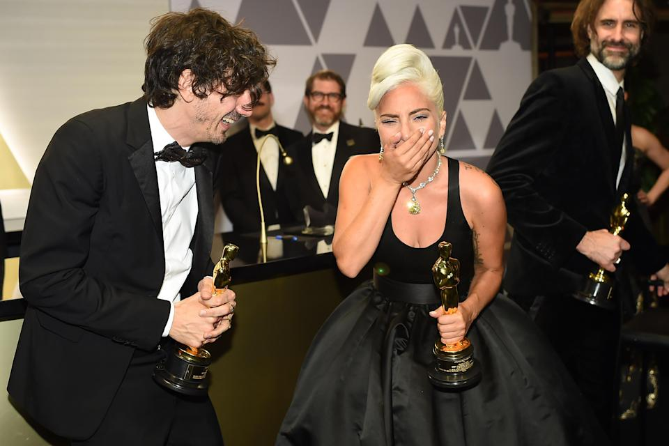 Anthony Rossomando and Lady Gaga at the 91st annual Academy Awards Governors Ball on Feb. 24, 2019. (Photo: Robyn Beck/AFP/Getty Images)