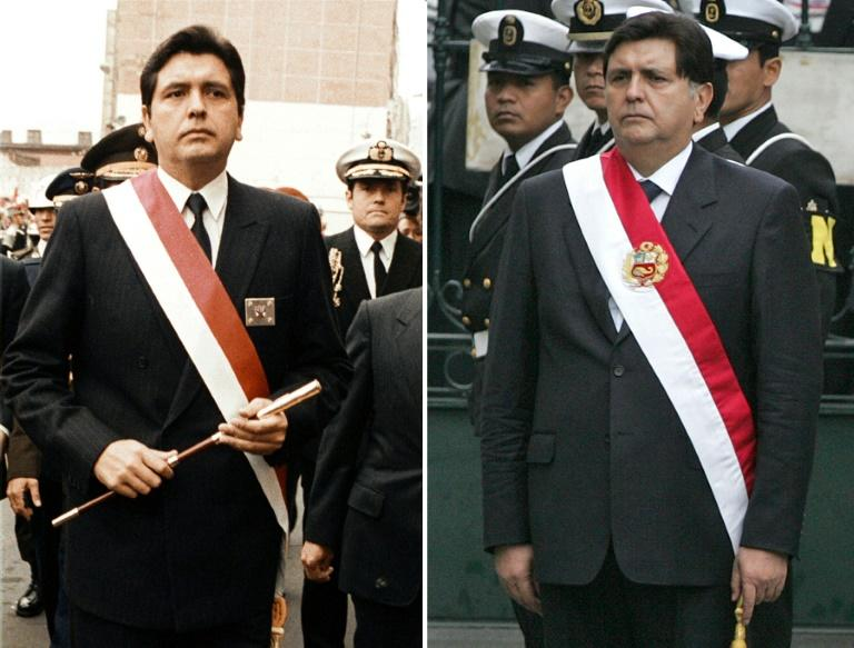 Garcia on the day he took office for the first time in July 1985 (L) and on his second inauguration in July 2006