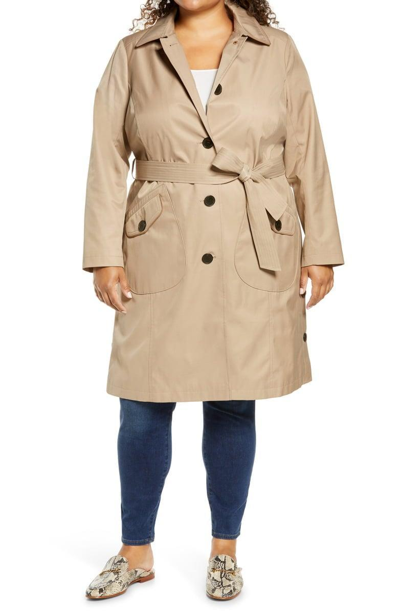 <p>The rain season doesn't stand a chance against this <span>Sam Edelman Water Repellent Trench Coat</span> ($120, originally $200).</p>