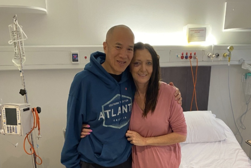 Jayne Brown is seen with Dr Charlie Teo. Source: Supplied
