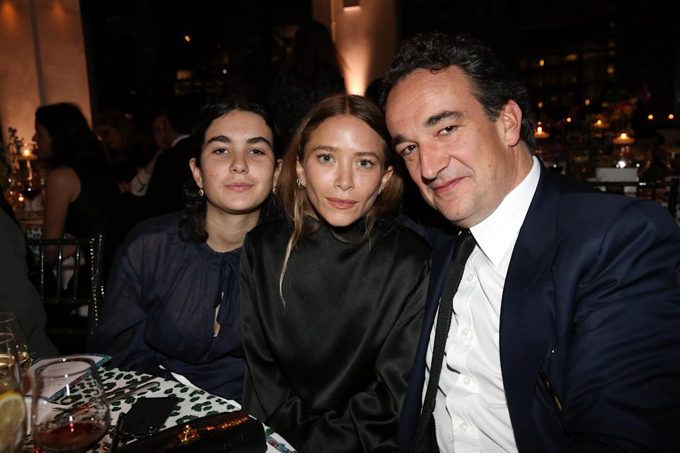 Mary-Kate Olsen and Olivier and Margot Sarkozy attend the 2018 Glasswing International Gala at Tribeca Rooftop on April 26, 2018 in New York City. (Photo: WireImage)