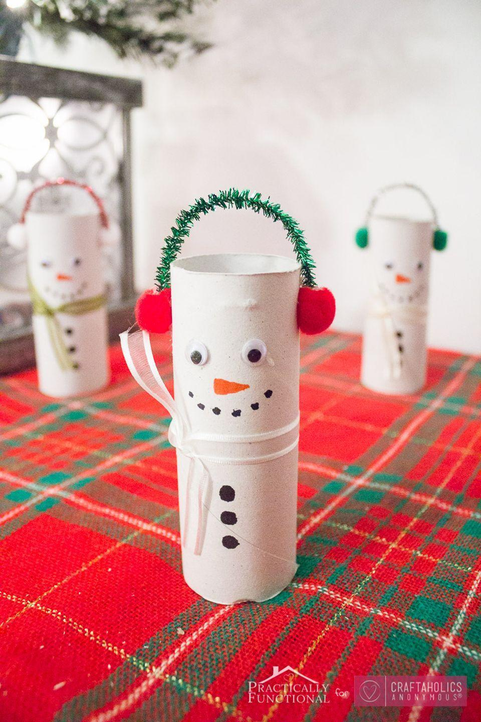 "<p><span>Your kids will love personalizing these mini toilet paper snowmen. </span></p><p><strong>Get the tutorial at <a href=""http://www.craftaholicsanonymous.net/diy-toilet-paper-roll-snowmen"" rel=""nofollow noopener"" target=""_blank"" data-ylk=""slk:Craftaholics Anonymous"" class=""link rapid-noclick-resp"">Craftaholics Anonymous</a>. </strong><br></p>"