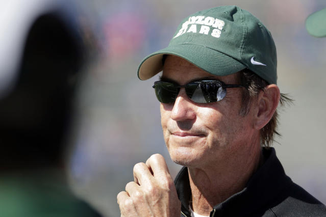 Art Briles has not coached in the United States since he was fired by Baylor. (AP Photo/Charlie Riedel, File)