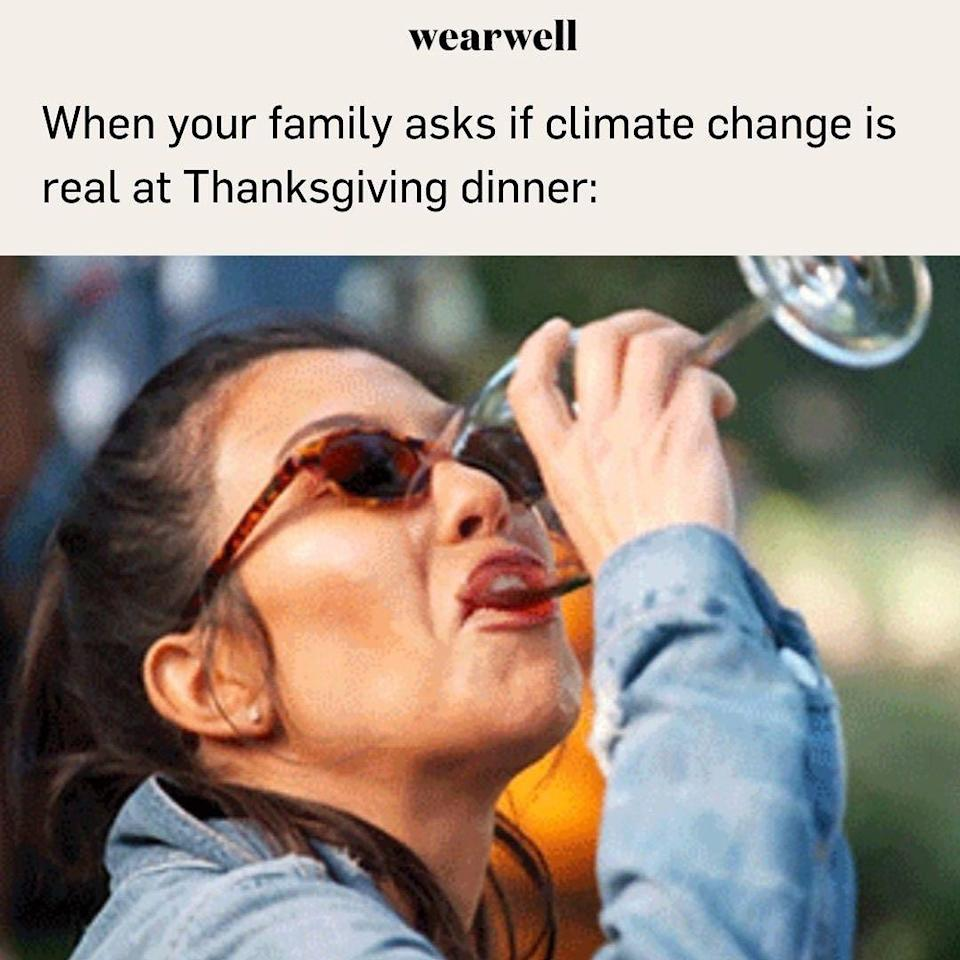 <p>Okay, so climate change will be one of the topics one member will bring to the table, so make sure you have enough wine for this one. </p>