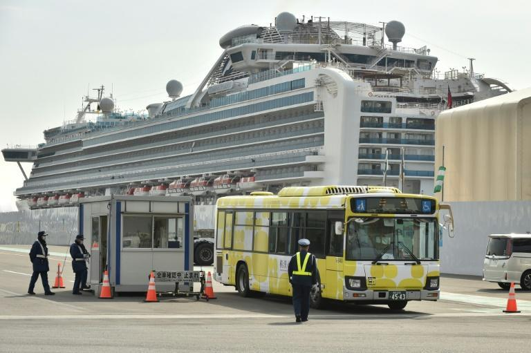 Passengers from the Diamond Princess were taken by stations and airports to begin the journeys home