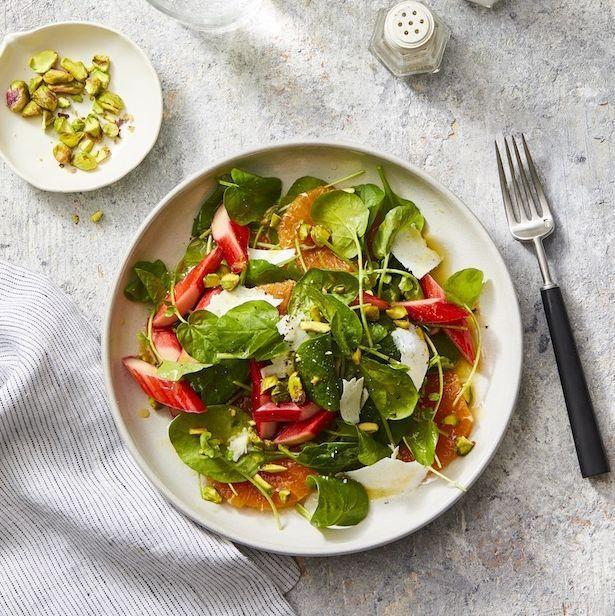 """<p>Saying no to dairy, eggs and meat doesn't mean you're stuck eating the same <a href=""""https://www.goodhousekeeping.com/food-recipes/healthy/g807/vegan-recipes/"""" rel=""""nofollow noopener"""" target=""""_blank"""" data-ylk=""""slk:vegan recipes"""" class=""""link rapid-noclick-resp"""">vegan recipes</a> day after day. In fact, you may end up finding <em>more </em>variety as you lean into seasonal ingredients and protein-packed staples to add a boost of flavor and <a href=""""https://www.goodhousekeeping.com/health/a40985/what-nutrition-means-to-us/"""" rel=""""nofollow noopener"""" target=""""_blank"""" data-ylk=""""slk:nutrition"""" class=""""link rapid-noclick-resp"""">nutrition</a> to your greens. Here, are our most delicious vegan salads that will *actually* fill you up. Because no one wants to munch on plain lettuce and call it lunch. Agreed?</p>"""
