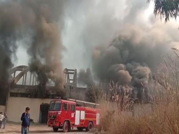 A fire broke out at a factory in Ghaziabad (Photo/ANI)
