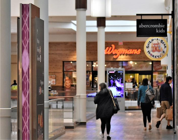 The Wegman's at the Natick Mall became a major draw after taking over a space once occupied by JC Penney. It was even open during the large coronavirus pandemic closure of the mall. (Neal McNamara/Patch)