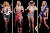 """<p>Vote for Gaga! The artist and advocate encouraged Americans to vote in the 2020 election with a fun fashion show of <a href=""""https://people.com/style/lady-gaga-rewears-iconic-outfits-voting-psa/"""" rel=""""nofollow noopener"""" target=""""_blank"""" data-ylk=""""slk:eight memorable outfits"""" class=""""link rapid-noclick-resp"""">eight memorable outfits</a> worn through the years of her career.</p> <p>Gaga spoke from the heart in the PSA, urging people to cast their ballots while wearing her Monster Ball Tour mirrored dress, Super Bowl LI bodysuit, and, of course, <span>the infamous meat dress</span> from the 2010 MTV Video Music Awards.</p> <p>""""I may have seemed to shift and change but one thing that has never changed is my voice and what I believe. My voice will be heard this election. Will yours?"""" she asked.</p>"""
