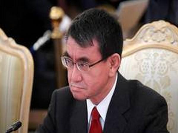 Japanese Defense Minister Taro Kono