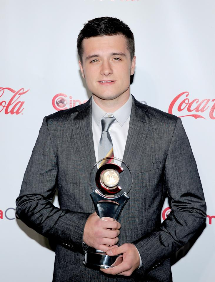 LAS VEGAS, NV - APRIL 26:  Actor Josh Hutcherson, recipient of the Breakthrough Performer of the Year Award, arrives at the CinemaCon awards ceremony at the Pure Nightclub at Caesars Palace during CinemaCon, the official convention of the National Association of Theatre Owners April 26, 2012 in Las Vegas, Nevada.  (Photo by Ethan Miller/Getty Images)