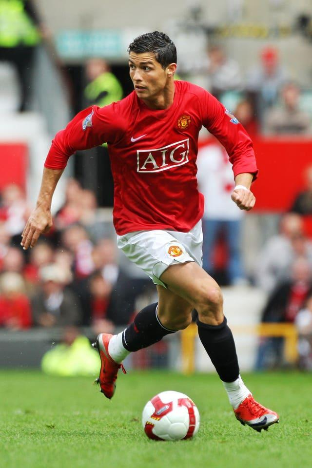 Ronaldo was a star at Manchester United early in his career