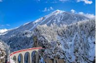 """<p>This picturesque corner of Europe will always have our hearts for its heavenly alpine scenery and wonderful <a href=""""https://www.goodhousekeeping.com/uk/lifestyle/travel/g27645232/rail-holidays/"""" rel=""""nofollow noopener"""" target=""""_blank"""" data-ylk=""""slk:train rides"""" class=""""link rapid-noclick-resp"""">train rides</a> that make for an unforgettable winter trip. If you're looking ahead to winter 2022, a ride on the <a href=""""https://www.goodhousekeepingholidays.com/tours/switzerland-swiss-alps-glacier-express-tour"""" rel=""""nofollow noopener"""" target=""""_blank"""" data-ylk=""""slk:Glacier Express"""" class=""""link rapid-noclick-resp"""">Glacier Express</a> as you glide through Switzerland's natural scenes could be the answer.</p><p><strong>Good Housekeeping has five-day holidays that take in the best of Switzerland, including a ride on the Glacier Express, with departures in February 2022.</strong></p><p><a class=""""link rapid-noclick-resp"""" href=""""https://www.goodhousekeepingholidays.com/tours/switzerland-swiss-alps-glacier-express-tour"""" rel=""""nofollow noopener"""" target=""""_blank"""" data-ylk=""""slk:FIND OUT MORE"""">FIND OUT MORE</a></p>"""