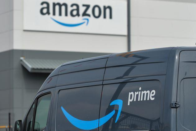 Amazon Prime van waiting to depart from the Amazon delivery centre in Channel Commercial Park in Belfast. Packages are shipped to the delivery station from Amazon fulfillment and sorting centers and loaded onto vehicles for delivery to Amazon customers in the Belfast area. On Tuesday, April 20, 2021, in Belfast, Northern Ireland. (Photo by Artur Widak/NurPhoto via Getty Images) (Photo: NurPhoto via NurPhoto via Getty Images)