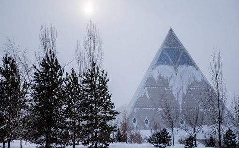 The palace of peace and reconciliation designed by Norman Foster in Astana, Kazakhstan - Credit: Sergei Bobylev/\TASS via Getty Images
