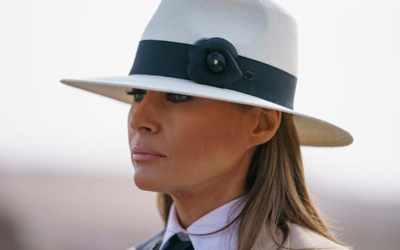 Melania Trump made her comments during a recent trip to Africa - AP
