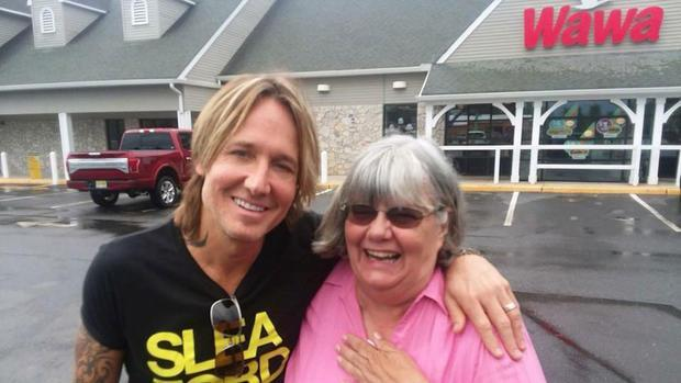 Ruth Reed bumped into Keith Urban at Wawa and didn't recognise him. Photo: Supplied/AP
