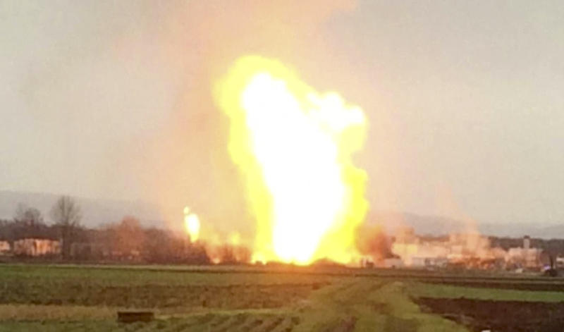 Gas flows restored after explosion at Austrian hub