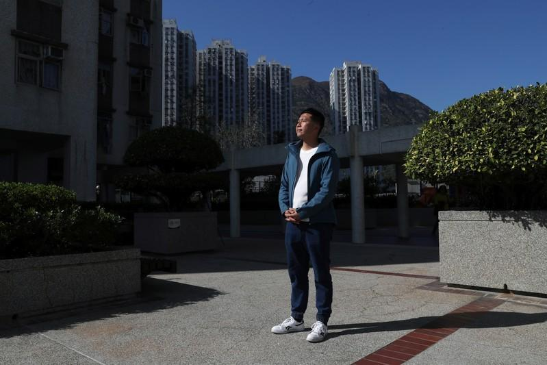 Pan-democratic newcomer Cary Lo poses for a picture in Hong Kong