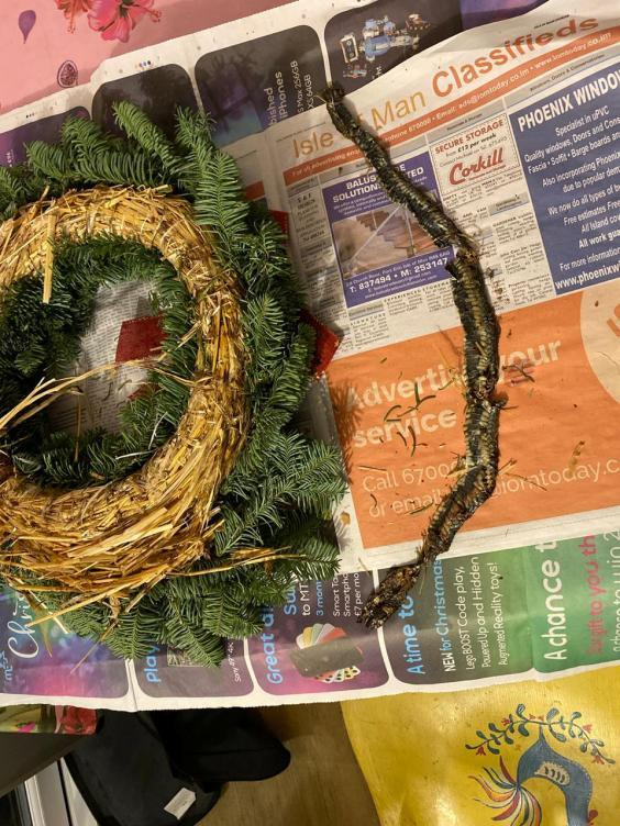 The wreath was purchased from a supermarket (Karl Gaskell / SWNS)