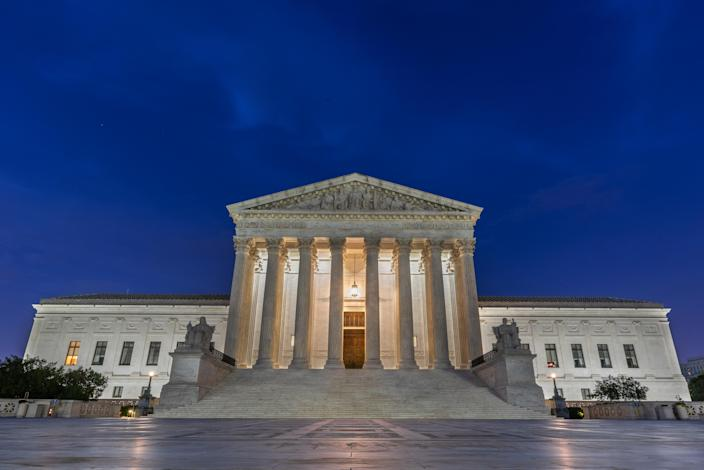 The U.S. Supreme Court building stands in Washington, D.C., U.S., on Tuesday, July 7, 2020. (Craig Hudson/Bloomberg via Getty Images)