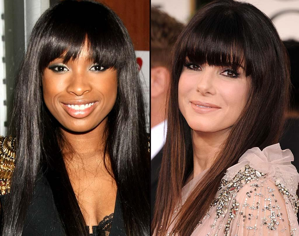 """First up, two Oscar-winning actresses go head-to-head with a sophisticated, sleek style we love ... on both of them! We say J-Hud claims the slight advantage here, though, as she really shines and revs up the fashionista factor with those thick bangs. <a href=""""http://www.wireimage.com"""" target=""""new"""">WireImage.com</a> - March 1, 2011"""