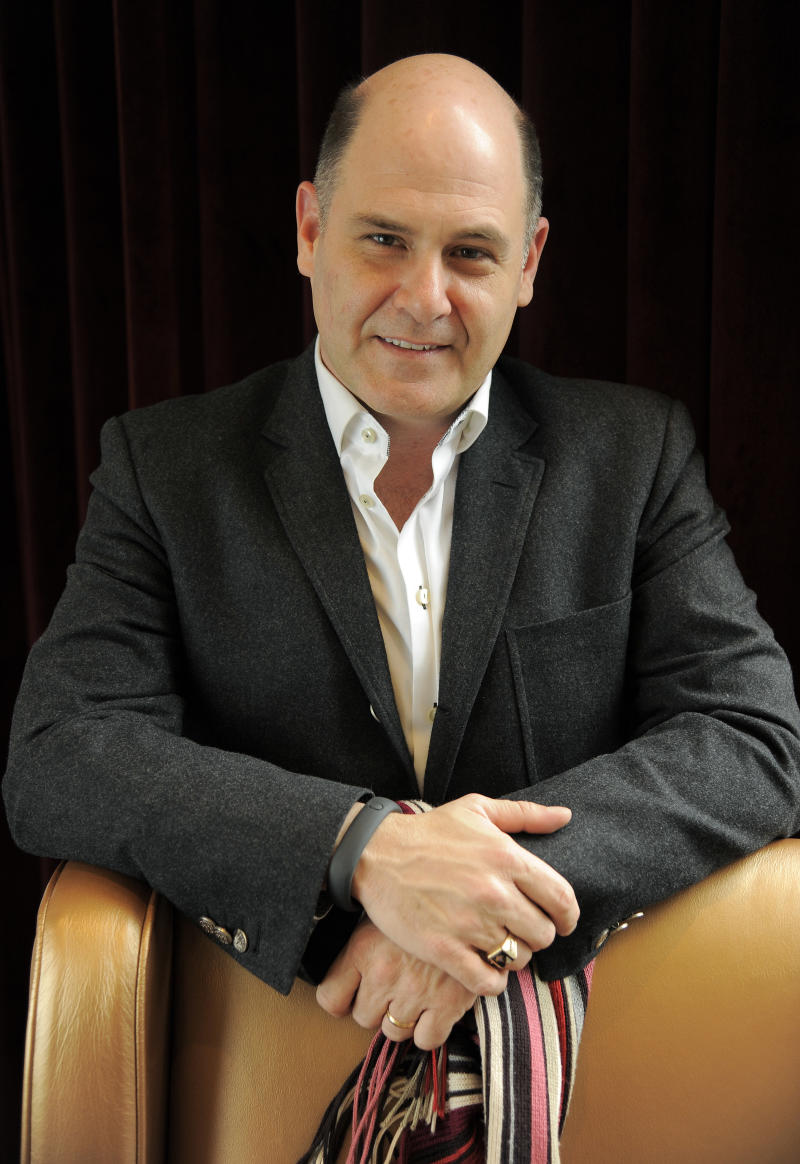 """Matthew Weiner, writer/director of """"You Are Here,"""" poses for a portrait on day 3 of the 2013 Toronto International Film Festival on Saturday, Sept. 7, 2013 in Toronto. (Photo by Chris Pizzello/Invision/AP)"""