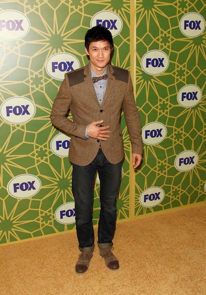 """<a href=""""/harry-shum/contributor/1156214"""">Harry Shum Jr.</a> (""""<a href=""""/glee/show/44113"""">Glee</a>"""") attends the 2012 Fox Winter TCA All-Star Party at Castle Green on January 8, 2012 in Pasadena, California."""