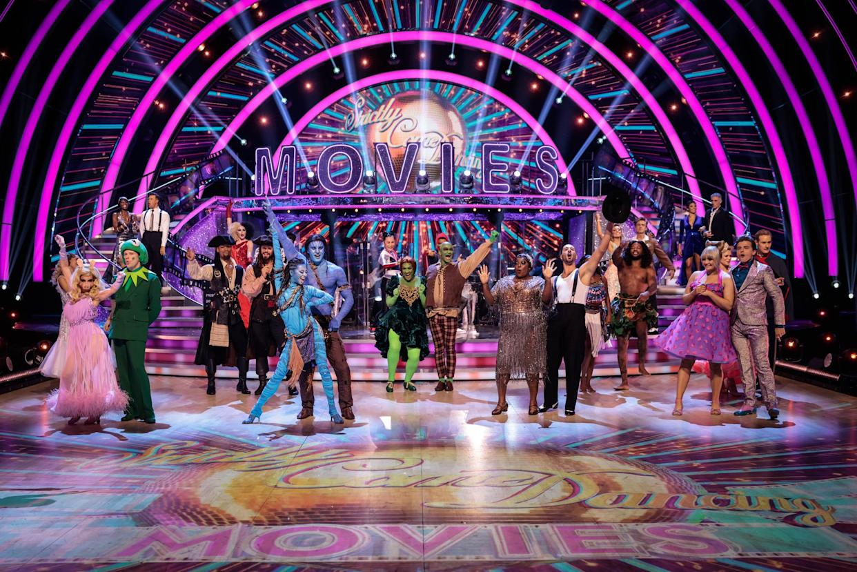 Programme Name: Strictly Come Dancing 2021 - TX: 09/10/2021 - Episode: Strictly Come Dancing - TX3 LIVE SHOW (No. n/a) - Picture Shows: ++LIVE SHOW++ The Strictly Come Dancing 2021 Celebrities and Professional Dancers - (C) BBC - Photographer: Guy Levy