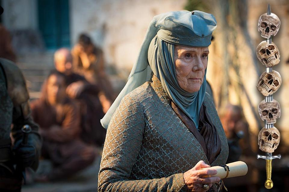 <p>Cersei burned the last of the Queen of Thorns' legacy away in the Sept of Baelor. Now, all that remains for Lady Olenna is vengeance. If she doesn't kill herself doing it, she'll probably take a very nice overdose of sleeping potion to go out with the grace and elegance you'd expect of her.<br><br>(Photo Credit: HBO) </p>